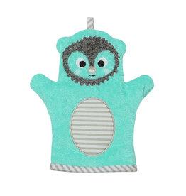 Zoocchini Baby Snow Terry Bath Mitt - Harriet Hedgehog