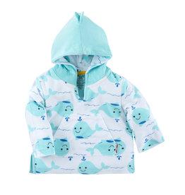 Zoocchini UPF50+ Baby Terry Swim Coverup - Whale 12-24m