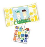 Djeco Reusable Stickers - Clothes