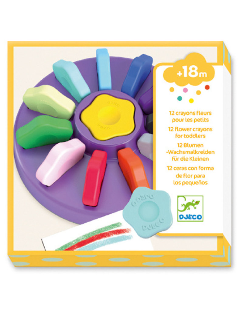 Djeco 12 Flower Crayons For Toddlers
