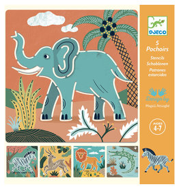 Djeco Stencils - Wild Animals