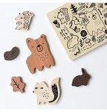 Wee Gallery Wooden Toy Puzzle - Woodland Animals