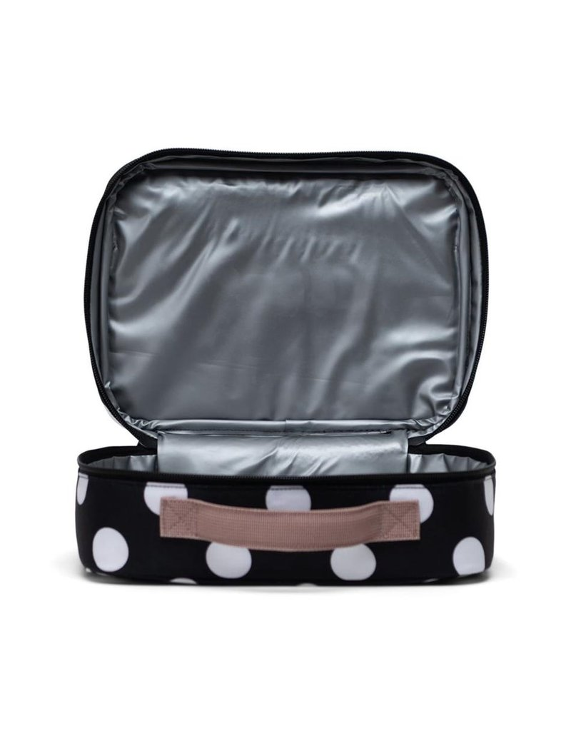 Herschel Pop Quiz Lunch Box - Polka Dot/Ash Rose