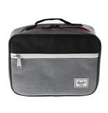 Herschel Pop Quiz Lunch Box - Grey/Black Crosshatch
