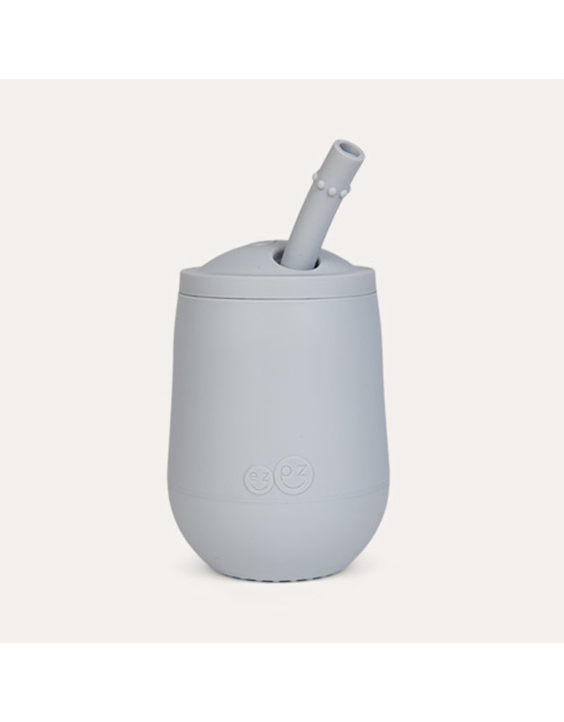ezpz Mini Cup + Straw Training System in Pewter