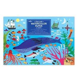 Eeboo In The Sea Watercolour Pad