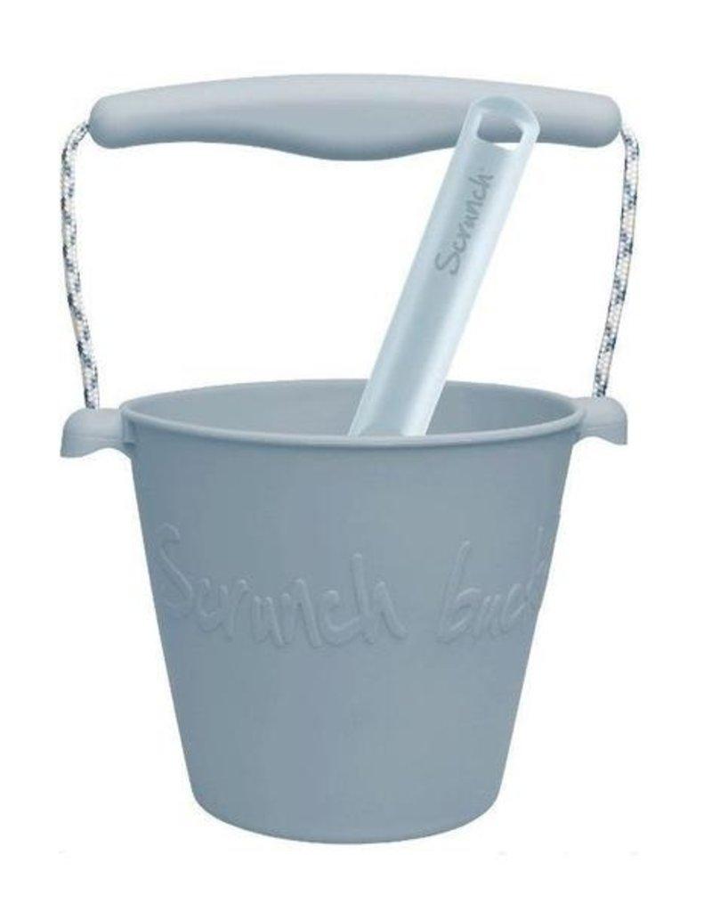 Scrunch Bucket and Spade, Duck Egg Blue