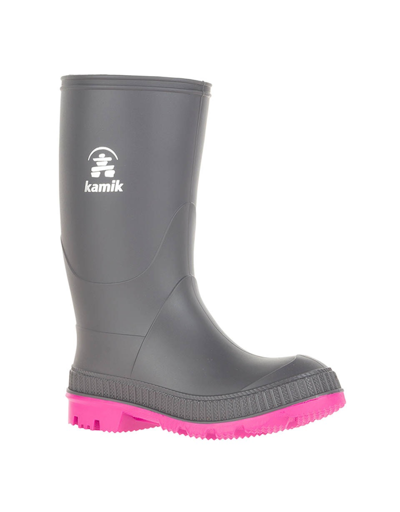 Kamik Charcoal/Magenta Stomp Rain Boots