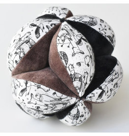 Wee Gallery Organic Sensory Puzzle Ball - Woodland