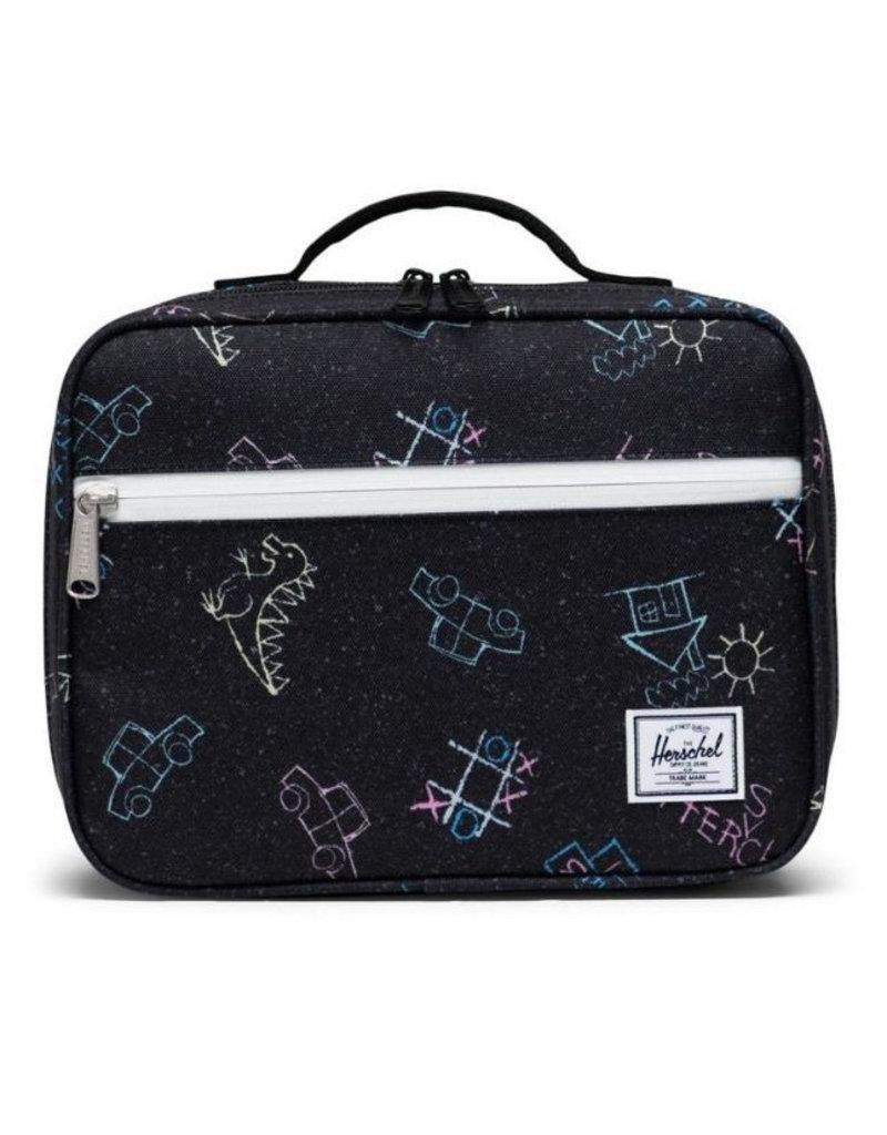 Herschel Pop Quiz Lunch Box - Asphalt Chalk
