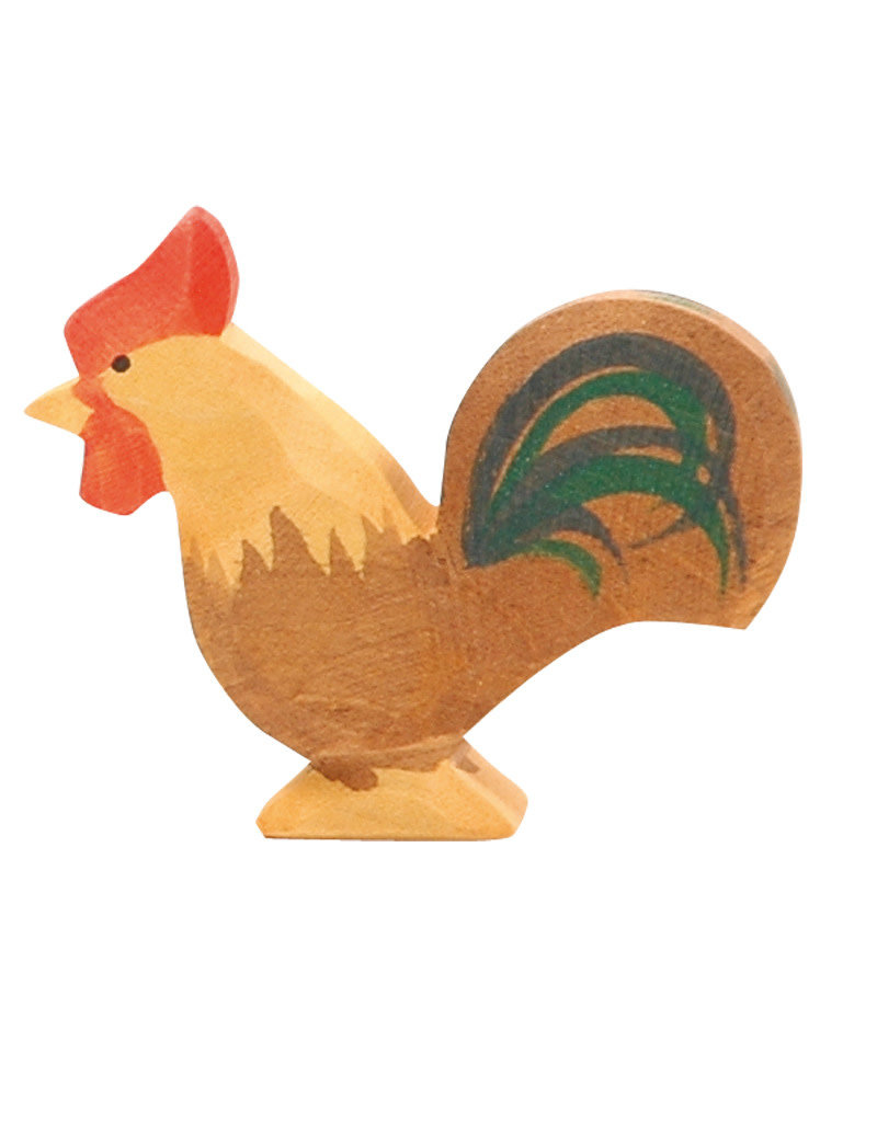 Ostheimer Wooden Toys Rooster Brown