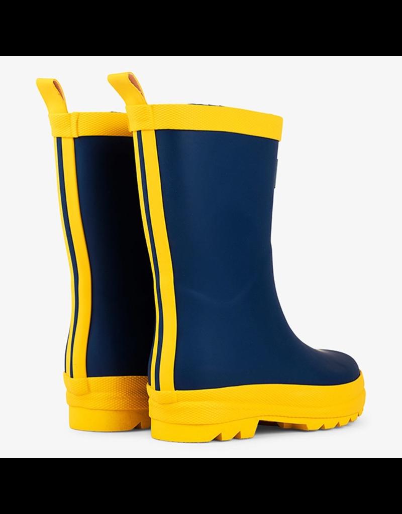 Hatley Navy & Yellow Rain Boots