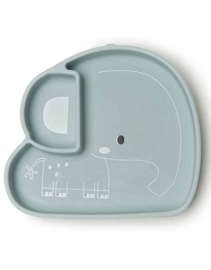 Loulou Lollipop Born to be Wild Elephant Silicone Snack Plate