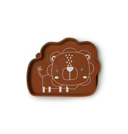 Loulou Lollipop Born to be Wild Lion Silicone Snack Plate