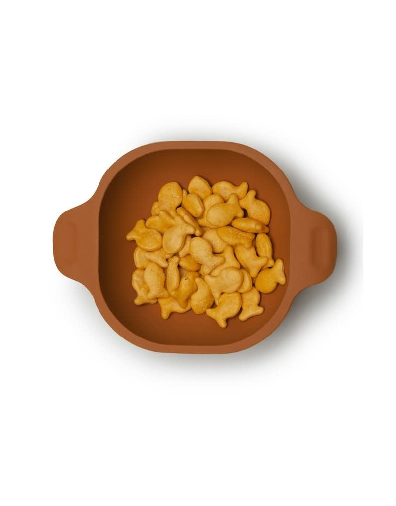 Loulou Lollipop Born to be Wild Silicone Snack Bowl - Ginger Honey