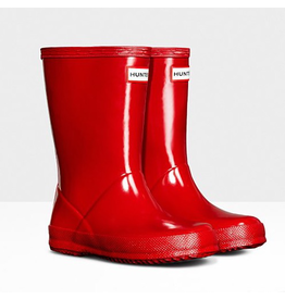 Hunter Boots Kid's First Hunter Gloss Boots Red Size 8