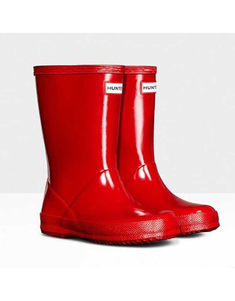 Hunter Boots Kid's First Hunter Gloss Boots Red