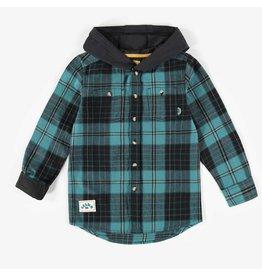 Souris Mini Flannel Hooded Shirt