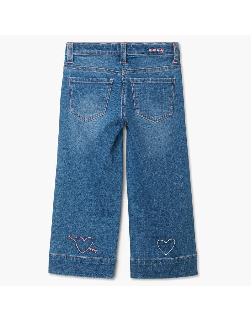 Hatley Stretch Denim Wide Leg Pants