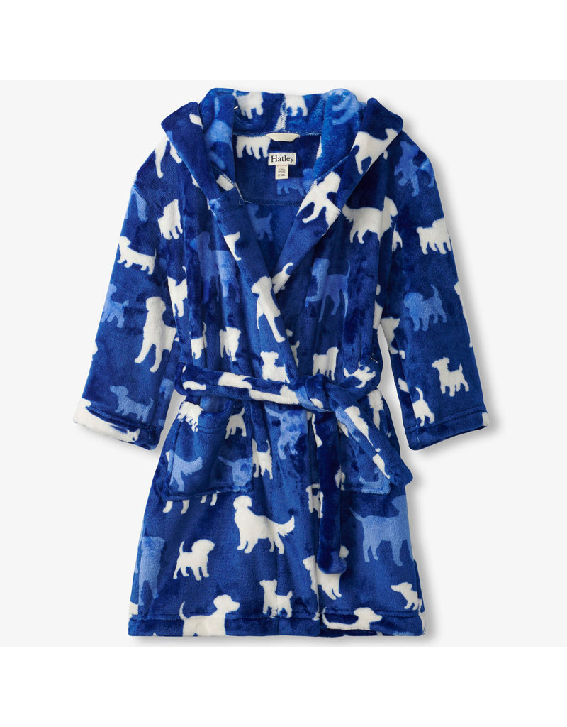 Hatley Silhouette Pups Fleece Robe