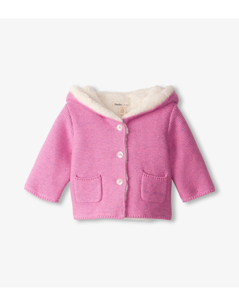Hatley Pink Sherpa Lined Sweater
