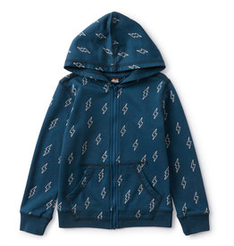 Tea Collection Bolts Zip Hoodie
