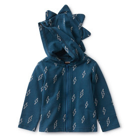 Tea Collection Bolts Baby Dino Hoodie