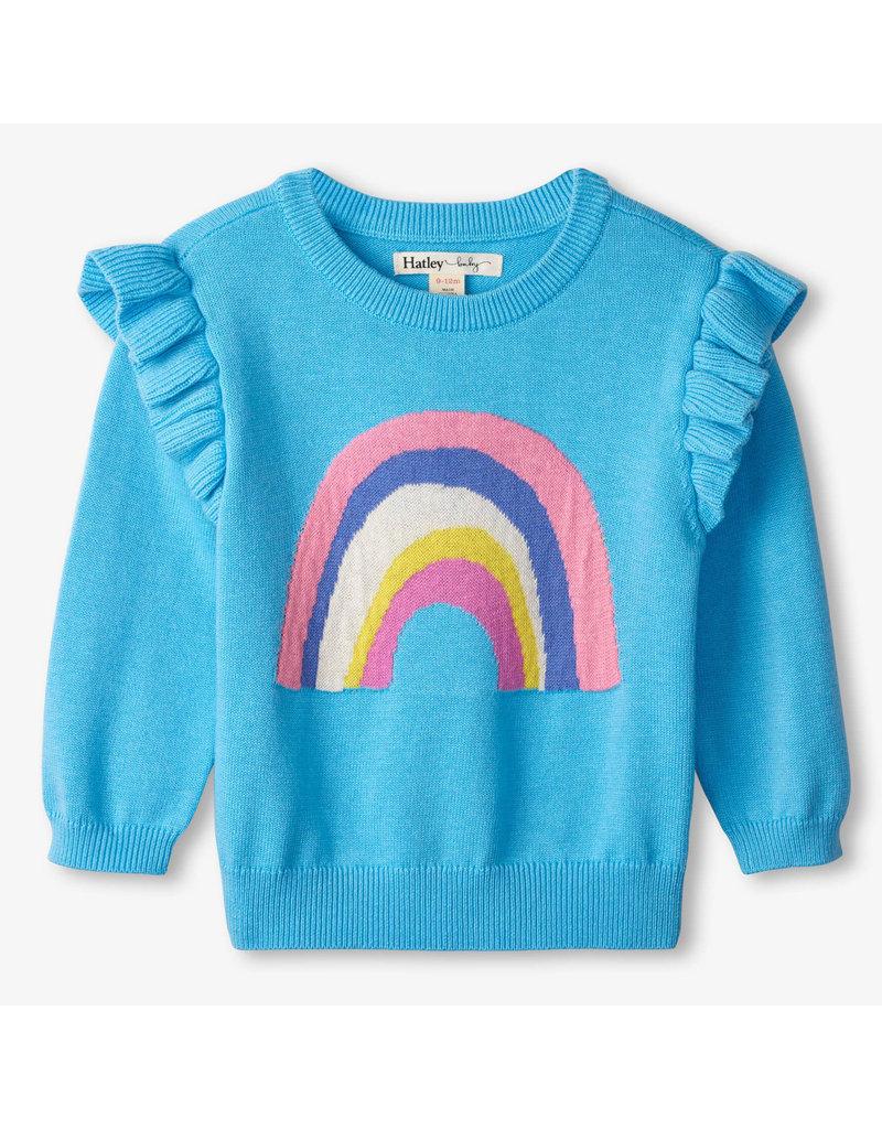 Hatley Rainbow Ruffle Sweater