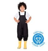 Jan & Jul Black Cozy Dry Rain Bib Pants