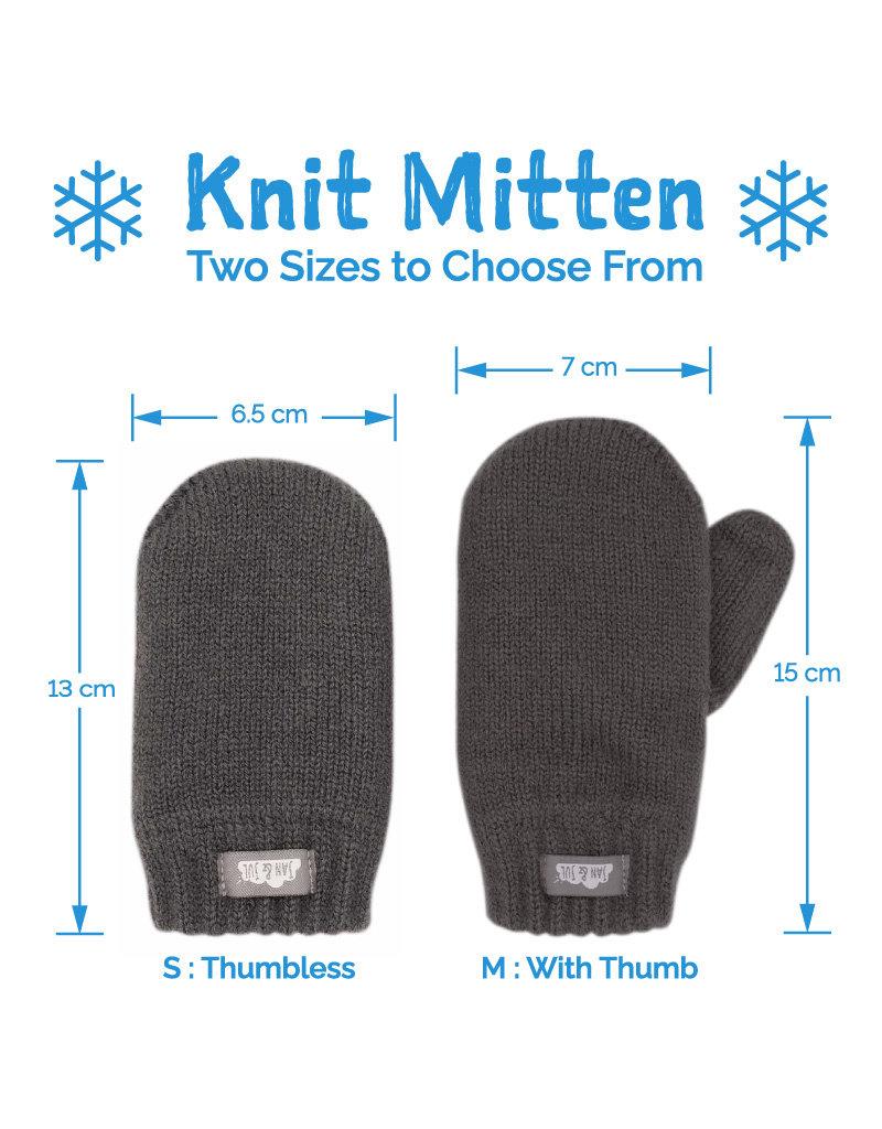 Jan & Jul Knit Mittens Dark Grey