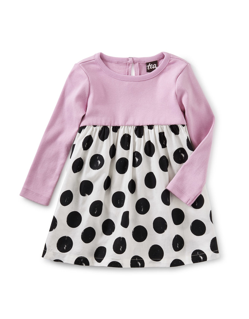 Tea Collection Dot Two-Tone Baby Dress