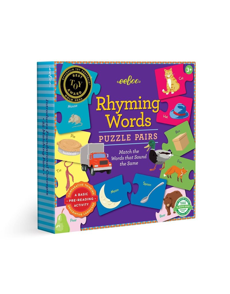 Eeboo Rhyming Puzzle Pairs 3rd Edition