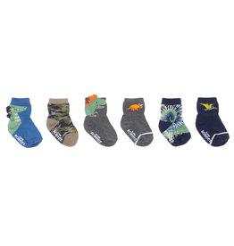 Roar-Some Baby Sock 6pk