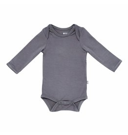 Kyte Baby Charcoal Bamboo LS Bodysuit