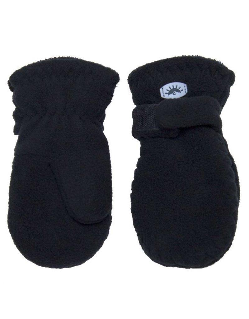 Black Fleece Mittens