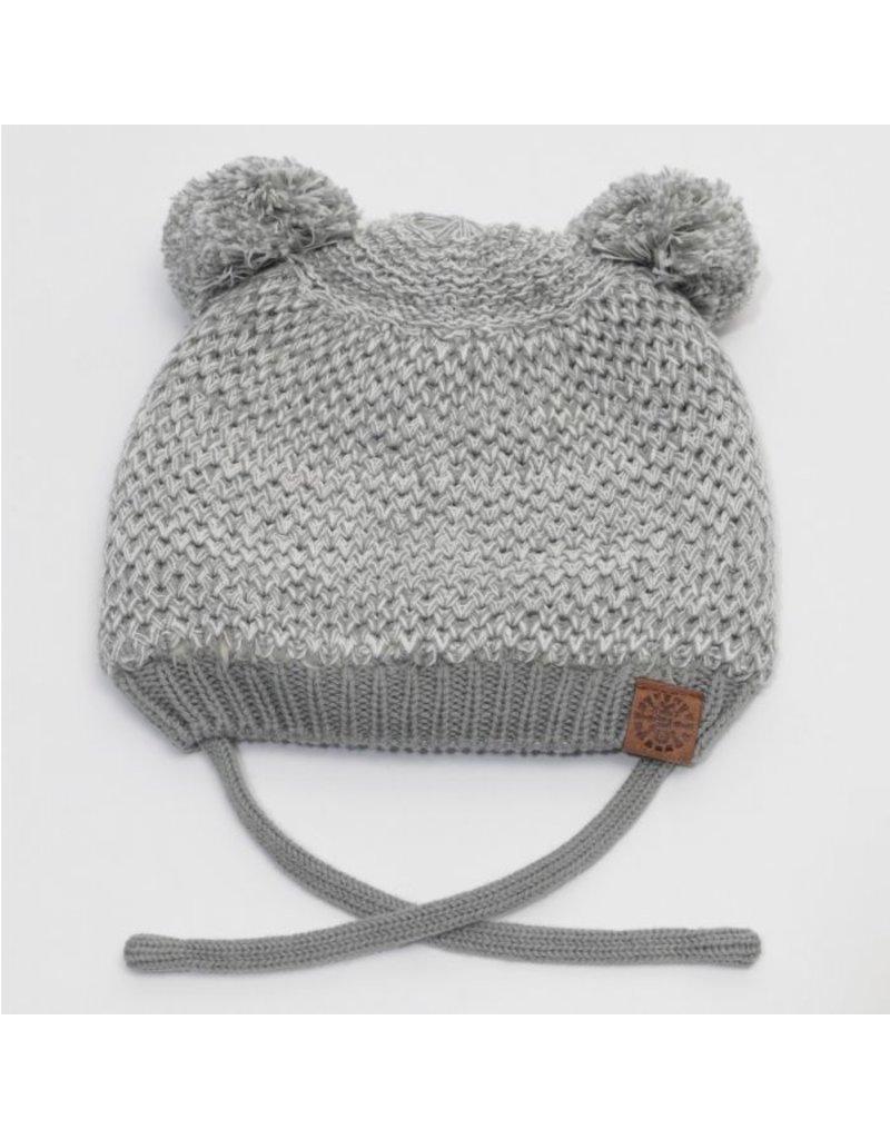 Baby Bear Hat, Grey Mix