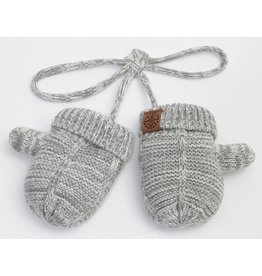 Baby Knit Mittens, Grey Mix