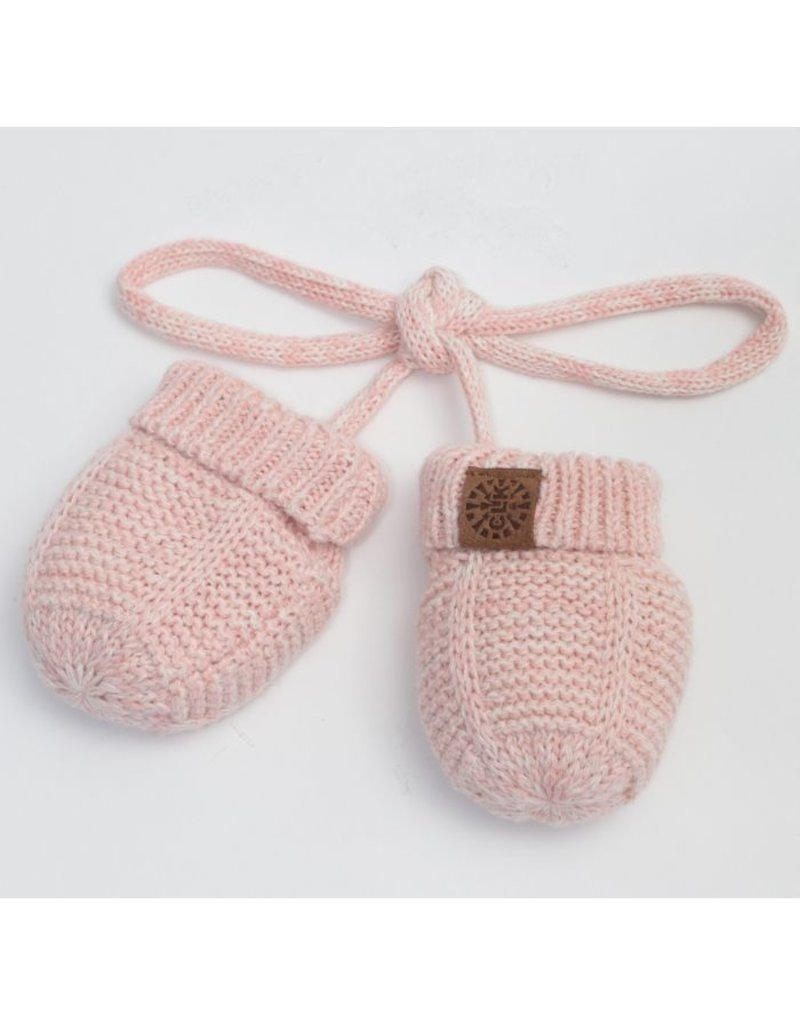 Baby Knit Mittens, Pink Mix
