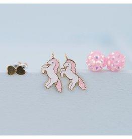 Great Pretenders Unicorn Studded Earrings, 3 Sets