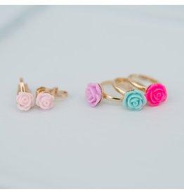 Great Pretenders Rose Rings & Clip-On Earring Set