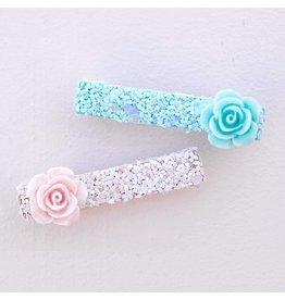 Great Pretenders Glitter Rosette Hairclips, 2 Pcs