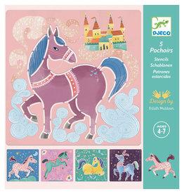 Djeco Stencils - Horses