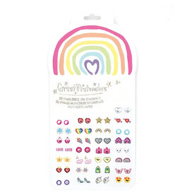 Great Pretenders Rainbow Love Sticker Earrings
