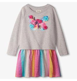 Hatley Floral Butterfly Metallic Dress