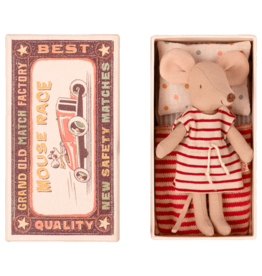 Maileg Mouse in Box - Big Sister (Striped Dress)