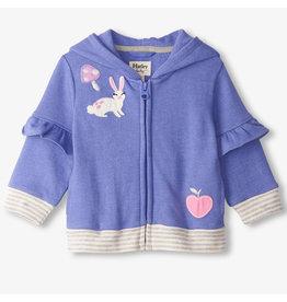 Hatley Baja Blue Baby Flutter Sleeve Hoodie