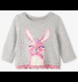 Hatley Cute Bunny LS Baby Tee