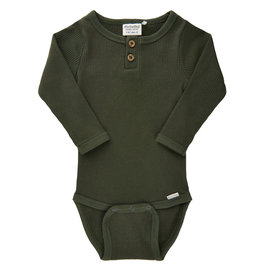 Forest LS Ribbed Onesie