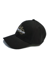 Hermosa Cyclery Hermosa Cyclery - Bike Logo, Structured Low-Profile Black Hat - - Fahrenheit 256