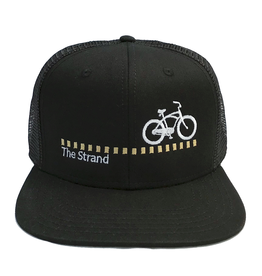 Hermosa Cyclery Hermosa Cyclery - The Strand, Structured High-Profile Black Hat - Trucker/Mesh- Fahrenheit 487